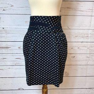 Elizabeth and James Polka Dot Mini Skirt XS